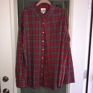 Sonoma red and blue plaid button down